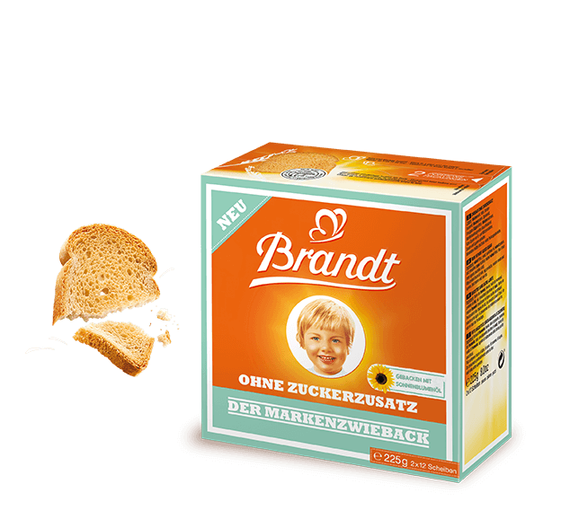 The Brandt Zwieback without added sugar